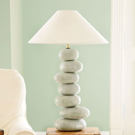 Rock Table Lamps: ,Lighting